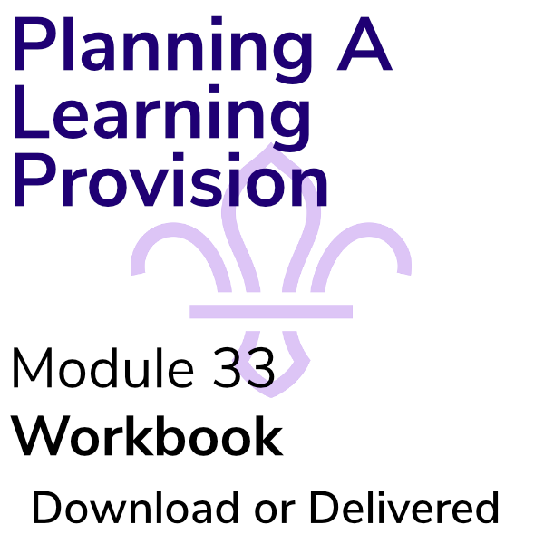 Planning A Learning Provision – Workbook